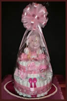 Tier 2 nappy cake with wrapping
