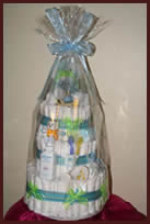 Tier 3 nappy cake with wrapping